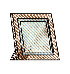 frame photo wooden image vector image
