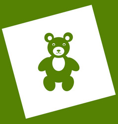 Teddy bear sign   white icon vector