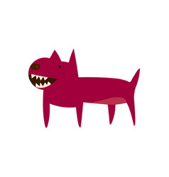 An angry cartoon dog pit bull icon vector