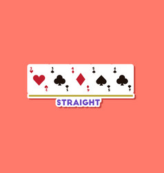 Paper sticker on stylish background poker cards vector