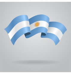 Argentine waving flag vector