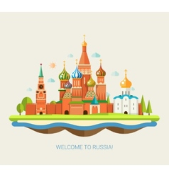 Flat design travel composition vector