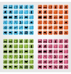 computer icon collection vector image