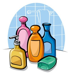 Shampoo and soap vector