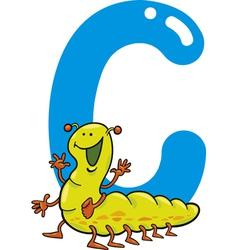 C for caterpillar vector image