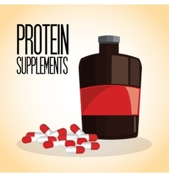 Icon of protein supplement design vector
