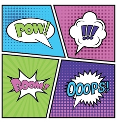 Abstract creative concept comics pop art vector
