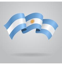 Argentine waving Flag vector image