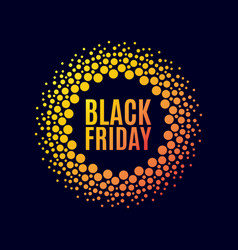Black friday sale halftone dots vector