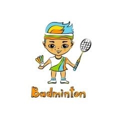 Cartoon Girl Badminton player vector image