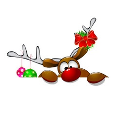 Cute christmas reindeer rudolph 4 vector