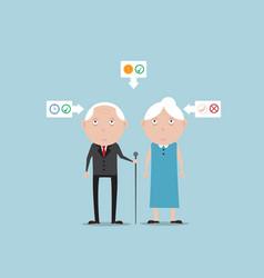 elder life concept cartoon vector image