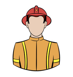 fireman icon cartoon vector image vector image