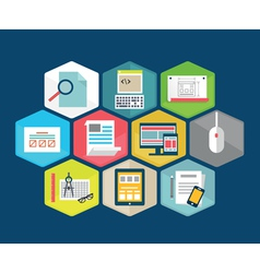 Flat composition of programming interface vector image vector image