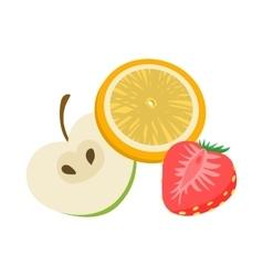 Fruit flavor icon cartoon style vector image vector image