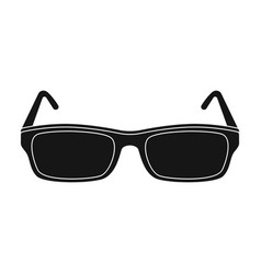 glasses icon in black style isolated on white vector image