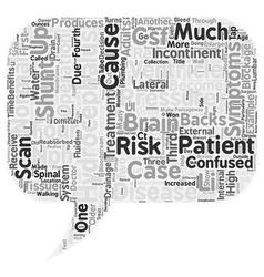 Hydrocephalus too much water on the brain text vector