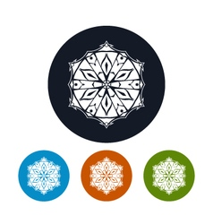 Icon of a Snowflake vector image