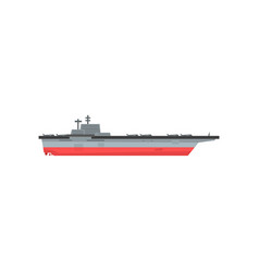 icon of aircraft carrier with airplanes vector image