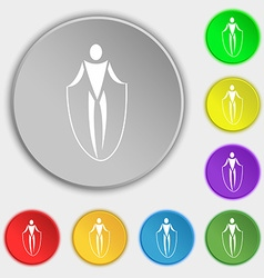 Jump rope icon sign symbol on eight flat buttons vector