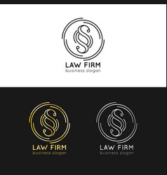 law office logos set vintage attorney vector image vector image