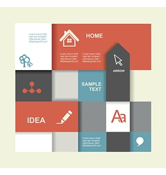 Modern Design template Graphic or website layout vector image vector image