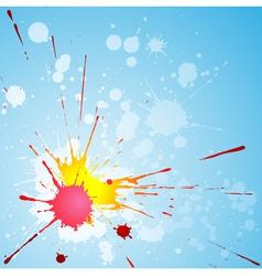 paint splat vector image vector image