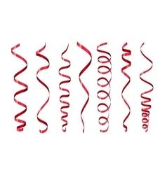 Paper streamer set vector image