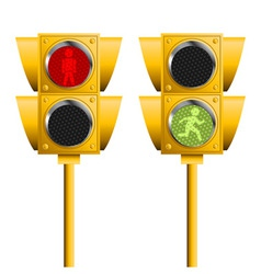 pedestrian lights vector image vector image
