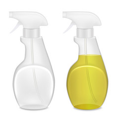 realistic template blank white bottle spray set vector image