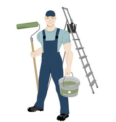 repairman vector image