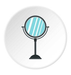 round mirror icon circle vector image