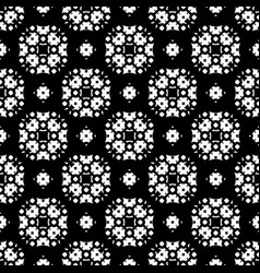 Seamless pattern black and white ornamental vector