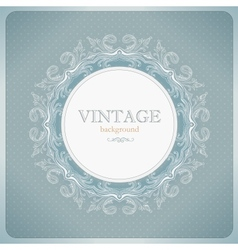 Vintage lace background vector image vector image