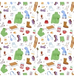 Winter icons seamless pattern patches vector