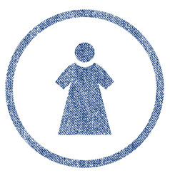 woman rounded fabric textured icon vector image vector image