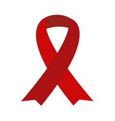 Red aids ribbon isolated on white vector