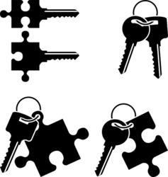 puzzle keys vector image