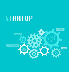 Startup graphic for business concept vector