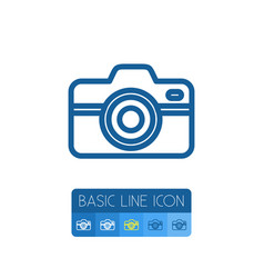 Isolated snapshot outline focus element vector