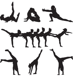 Gymnastics and dance vector