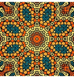 Seamless psychedelic paisley background vector