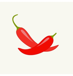 Hot red chili jalapeno pepper set isolated vector