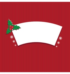 Winter label with text merry christmas vector