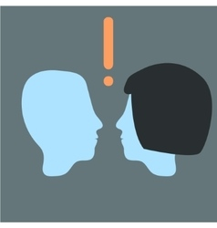 Head relationship man and woman vector