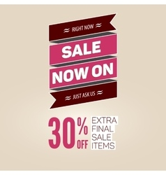 Vintage sale template vector