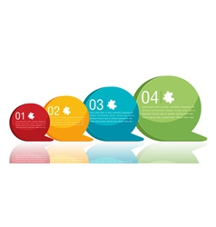 Circle text info graphic modern color vector