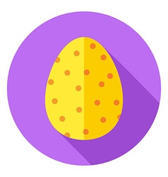 Easter egg with small dots decor circle icon vector
