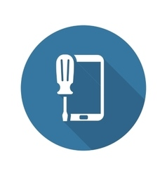 Mobile repair icon flat design vector