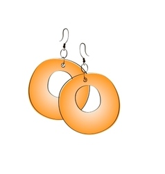 Pair of ethnic jewelry vector